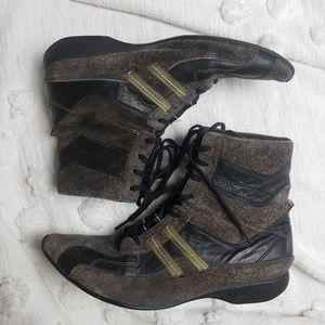 Shoes - Diesel Brown & Black Foxtrott Hightop Sneakers   9